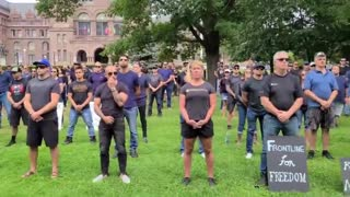 Canadian Police, Firefighters, And Medics Protest Against Mandatory Vaccinations..!!