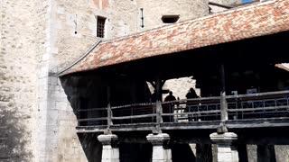 Chillon castel in Switzerland summer