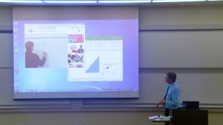 professor fixing the projector prank
