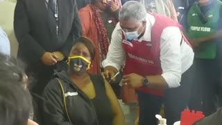 First teacher vaccinated in Western Cape