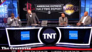 Charles Barkley roasts Jussie Smollett during TNT's NBA halftime show