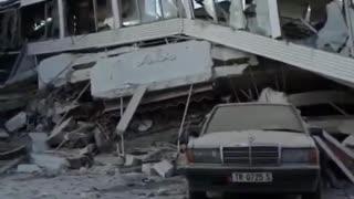 Albania earthquake aftermath with 6.4 magnitude