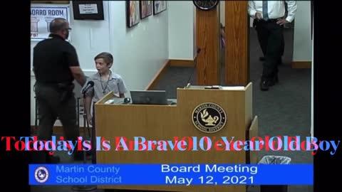 EPIC 10 YEAR OLD BOY CRUSHES MASK 😷 HYPOCRISY - MARTIN COUNTY EMERGENCY SCHOOL BOARD MEETING