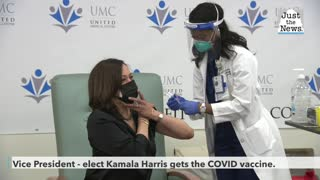 Kamala Harris gets COVID vaccine