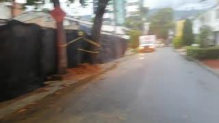 Cortan árbol que amenazaba con caer sobre viviendas en el sector de Conucos