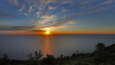 Sunset Time Lapse off of Skyline Trail, Cape Breton Nova Scotia.