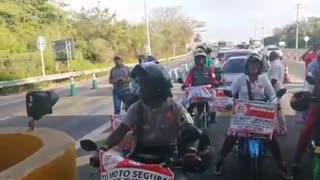Manifestación contra los peajes