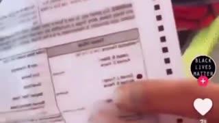 Postal worker ripped off a Trump ballot