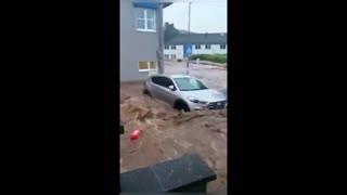 Flooding due to heavy rainfall