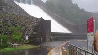 Reservoir flood discharge