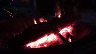 Relaxing sound fire cracklings outdoor nature