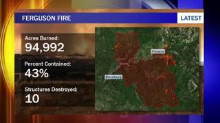 Massive California wildfire