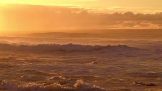 Ocean waves in winter 2021