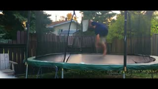 One Bounce Double Front-Flip