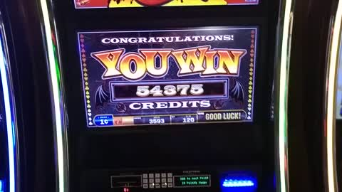 Big $500 Win on Hand of the Devil Slot Machine at Hollywood Casino Columbus Ohio