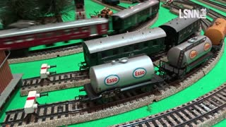 Miniatur model railway railroad of in Italy