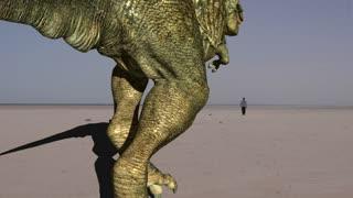Dinosaur In Desert