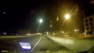 Uber driver's dashcam captures intense car accident