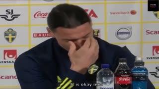 Zlatan Ibrahimović Cries During An Interview😥