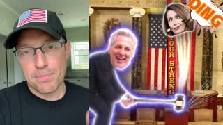 MCCARTHY SAY HE WILL HIT PELOSI WITH GAVEL WHEN SHE HANDS IT OVER TO HIM - LIBS SCREAM
