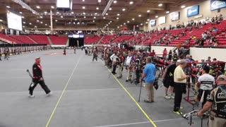 Indoor archery tournament championship.
