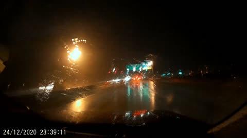 HEAVY RAIN DEC 24 2020 (I-76 East - Walt Whitman Br - New Jersey)