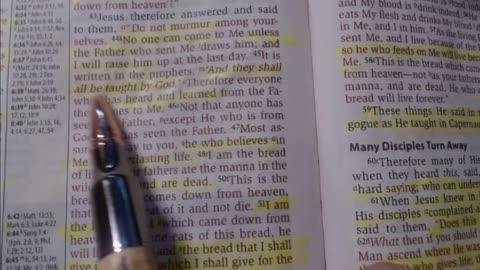 Bible study - John 6:41-59