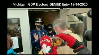 BREAKING! Michigan GOP Electors DENIED Entry For Vote