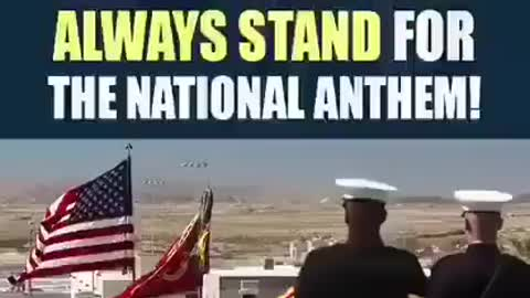 The National Anthem stand up