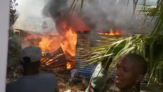 Residents in Kayamandi are battling to bring a fire under control