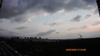 Rocket Attack From Gaza at Ashqelon Israel
