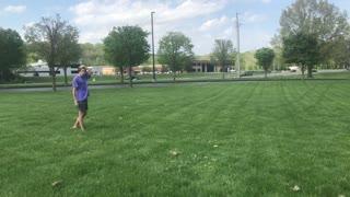 Double cork on grass