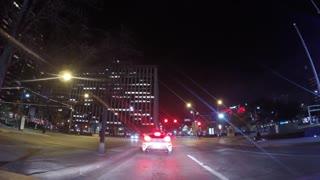Driving In Traffic Night Street
