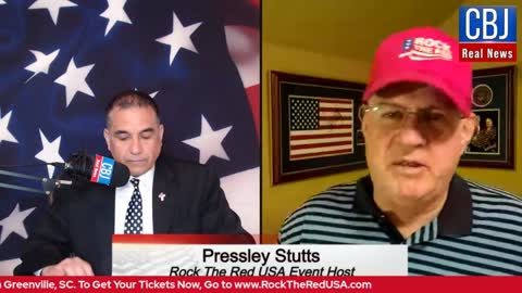 CBJ Real News Podcast Show: Special Guest Pressley Stutts, Rock the Red USA