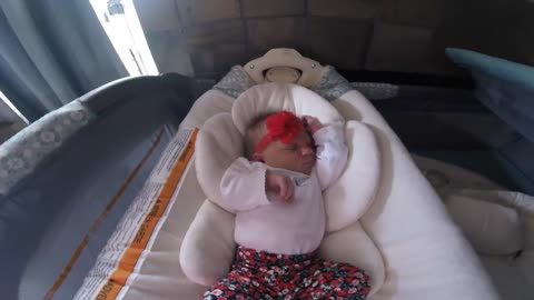 Baby Girl's Adorable Journey Home From The Hospital (Time-lapse)