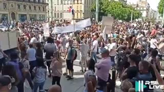 Marseille, France: Protests Erupt After Macron Announces Mandatory Vaccinations