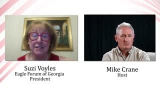Mike Crane with Suzi Voyles - President of Eagle Forum of Georgia
