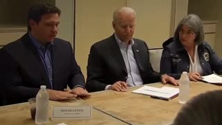 DeSantis Signing A Bill With Joe Using Elite Symbol