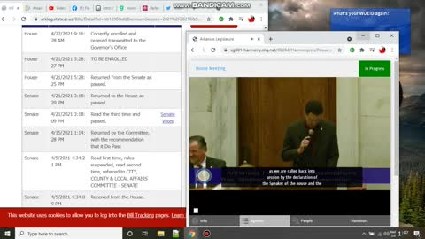 yet more Footage of the 2021 Arkansas Legislator Midnight Session