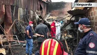 Incendio consumió fábrica de muebles en Bucaramanga esta madrugada