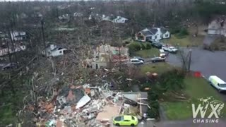 Tornado Damage Newnan, Georgia after overnight tornado carved long path of destruction