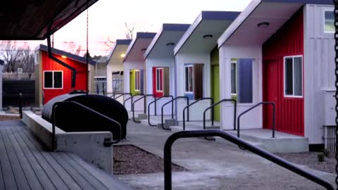 Tiny Home Village now open, first residents move in