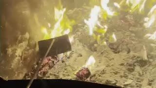 Burning paper, fire