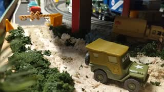 O Guage Lionel train layout 4x8 part 2