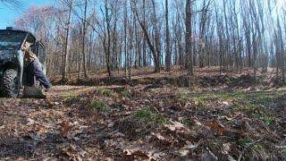 Grinding Down a Chestnut Oak Stump 3_29_2021 Part 1