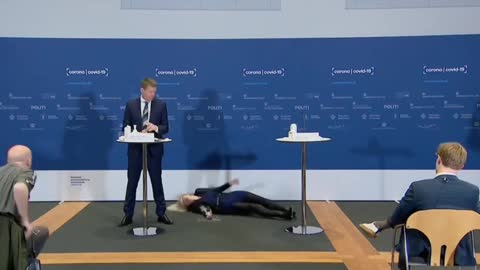 Danish health official passes out while announcing suspension of AstraZeneca vaccine