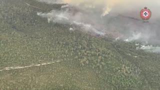 Un incendio amenaza a una isla considerada Patrimonio de la Humanidad en Australia