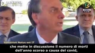 Bolsonaro: Il 50% dei morti del 2020 dichiarati per Covid, non sono reali!