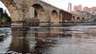 Stone Arch bridge low water level