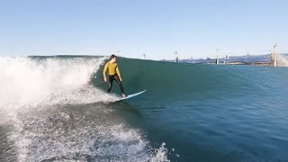 Surfing in a Wave Pool